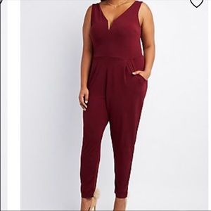 Pants - Burugundy red plus Sz 3X jumpsuit